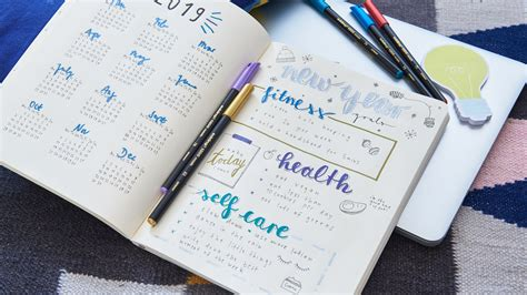 bullet journal calendar ideas edding