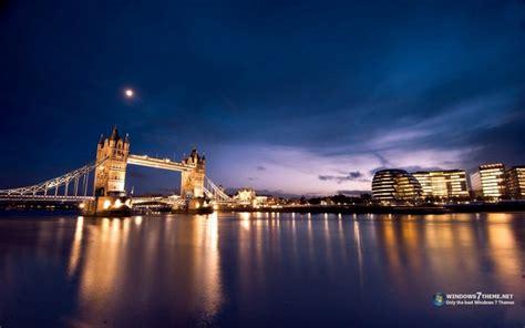 download theme windows 7 london tower bridge london night view windows 7 theme download