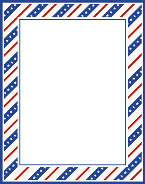 printable military stationary july fourth stationary border for crafts and writing paper