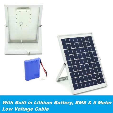 lithium and solar panels solar power system 10wp pv with built lithium battery bms