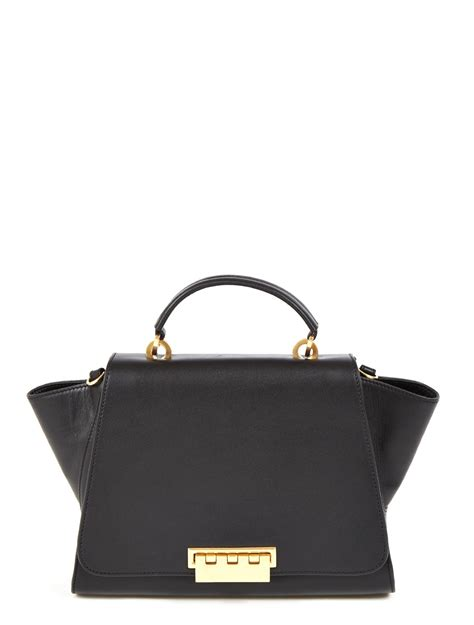 Zac Posens Satchel Handbag Is Way Better In Than Black by Zac Zac Posen Eartha Top Handle Bag In Black Lyst
