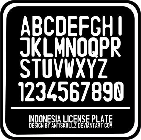 dafont license indonesia license plate font dafont com