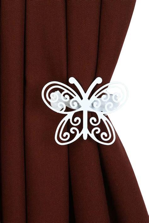 Pince Rideau Papillon by 2 Pinces 224 Rideau En M 233 Tal Papillon 8 Cm Acheter Ce