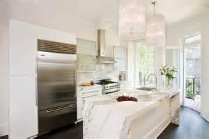 calcutta marble island contemporary kitchen ken the peak of tr 232 s chic white kitchens marble vs quartzite
