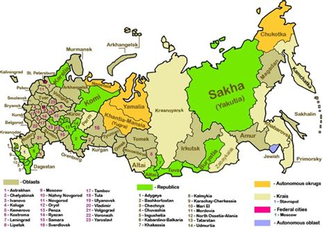 russia map by region outline of russia
