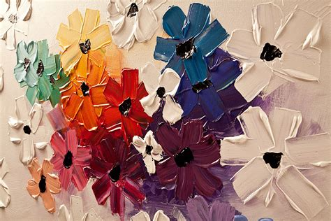 Modern Color Palette by Prints Painting Colorful Floral Abstract On White