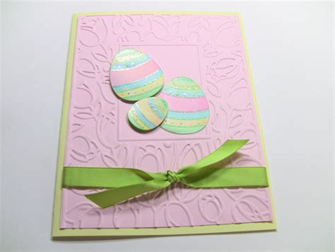 Easter Cards Handmade - handmade easter card embossed easter card 3 d easter