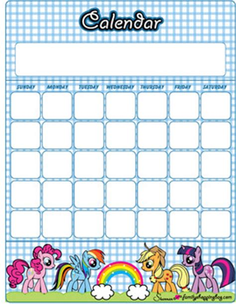 Where Is My Calendar Calendars 2 My Pony Calendars Free Printable