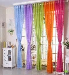 Blue Green Sheer Curtains Free Shipping Multicolors Sheer Curtain White Purple Blue Green Orange Incurtains From Home