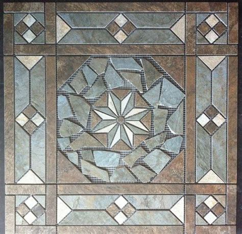 entryway 21 1 2 quot tile medallion daltile franciscan slate tile series floor or wall kitchen