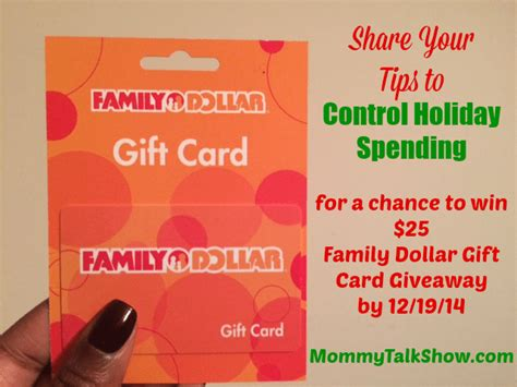 Family Dollar Gift Cards - how to control holiday spending without feeling like scrooge