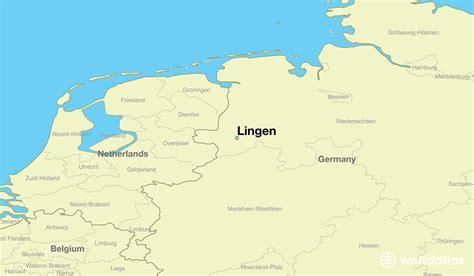 lingen germany lingen  saxony map worldatlascom