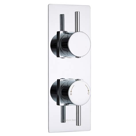 Shower Faucet Trim Plate by Quest Concealed 2 Outlet With Diverter Thermostatic Shower Valve Slim Trim Plate