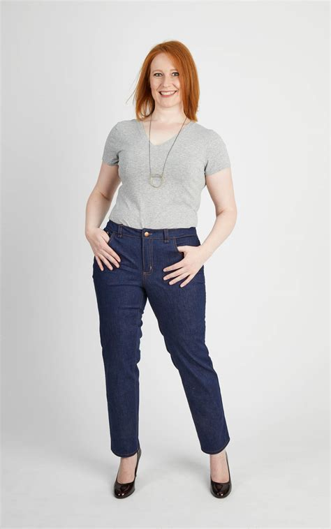 jeans pattern sewing ames jeans sewing pattern by cashmerette plus size