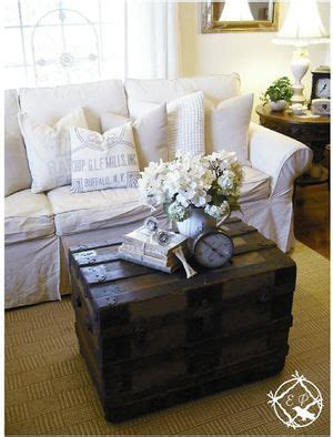 Living Room Trunk Table Suitcase Decor Farmhouse Living Rooms And Vintage Trunks On