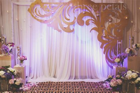 Wedding backdrop with decorative cutout.   Wedding