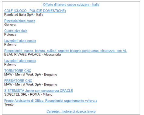 offerte lavoro svizzera italiana pagine