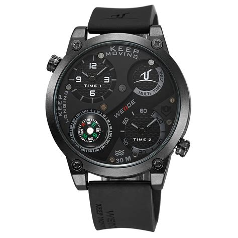 Weide Universe Series Dual Time Zone 30m Water Resistance Uv1507 B 1 weide universe series dual time zone compass 30m water