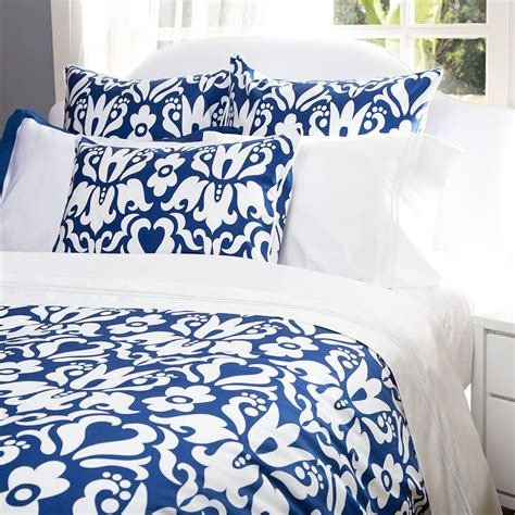 Cobalt Blue Comforter Damask Bedding The Montgomery Cobalt Blue Crane Amp Canopy