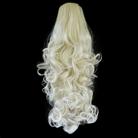 platinum clip in hair extensions ponytail clip in hair extensions platinum 16 60