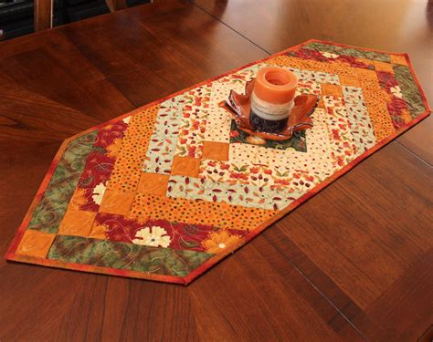 autumn braid table runner quilt for fall decorating