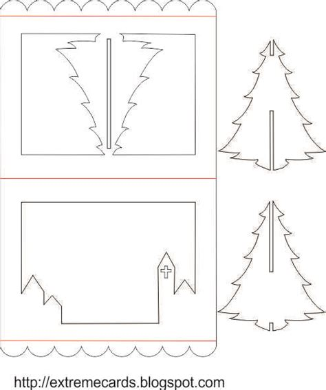 3d Christmas Tree Pop Up Card Tutorial 3d Template Pdf
