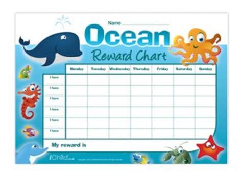 printable animal reward charts ocean animals reward chart in colour ichild