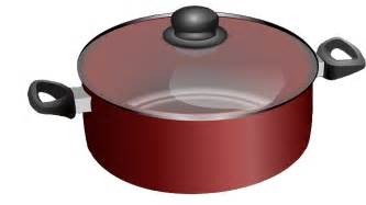 amazing Red And Black Kitchen #1: free-realistic-red-cooking-pot-clip-art-jhqvcH-clipart.png