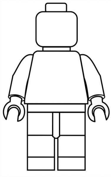 Lego Minifigure Template by Lego 224 Colorier Lego
