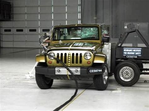 Jeep Wrangler Crash Test 2008 Jeep Wrangler 4 Door Side Iihs Crash Test