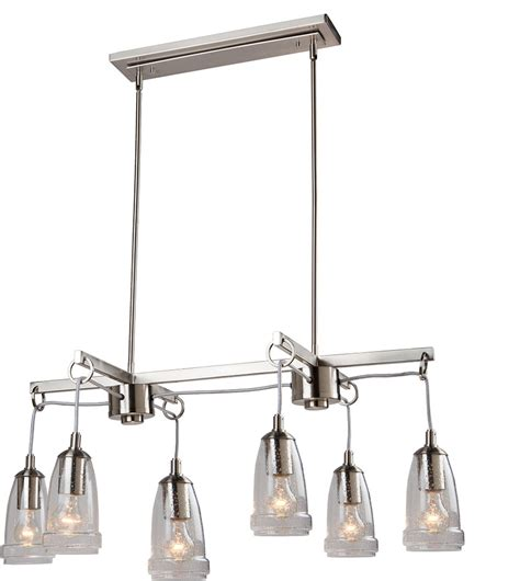 Modern Island Lighting Fixtures Artcraft Ac10526bn Nottingham Modern Brushed Nickel Island Light Fixture Ac10526bn