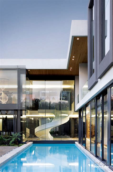 modern glass house sparkling glass house in johannesburg twinkles with
