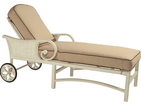 cast aluminum chaise lounge with wheels castelle riviera cushion cast aluminum adjustable chaise