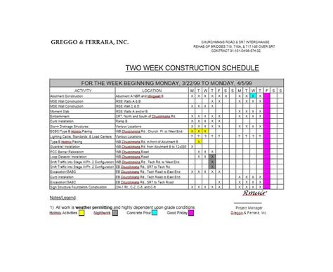 construction work schedule template 21 construction schedule templates in word excel