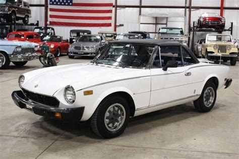 fiat spider white 1980 fiat spider 46428 white convertible 2 0 liter 5