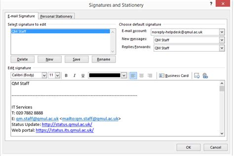 Office 365 Mail Qmul Add A Signature On Outlook Office 365