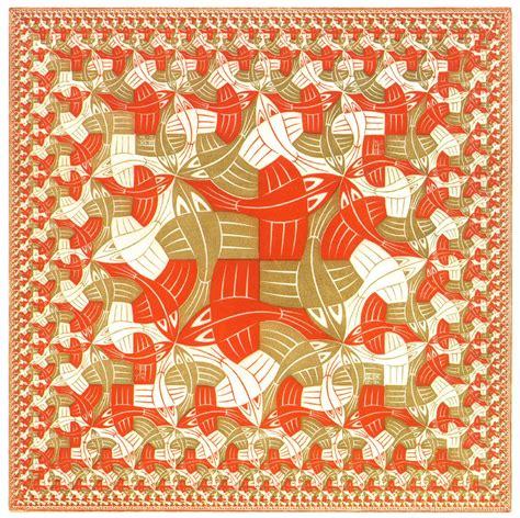 m pattern in c square limit colour 1964 m c escher wikiart org
