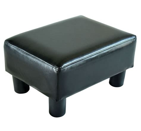 footrest for couch modern faux leather ottoman footrest stool foot rest small