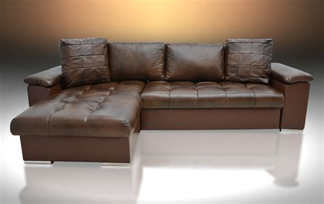 Corner Brown Leather Sofa Real Leather Corner Sofa Bed Mike Universal Brown