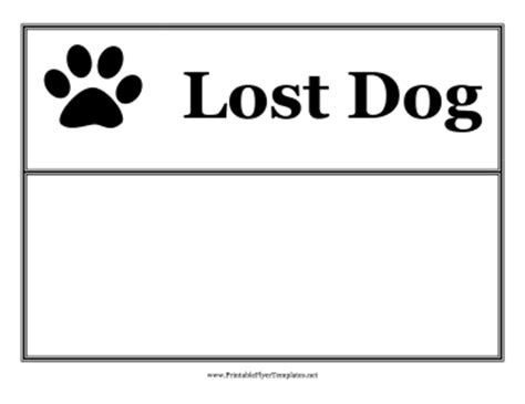 lost dog sign template pictures to pin on pinterest