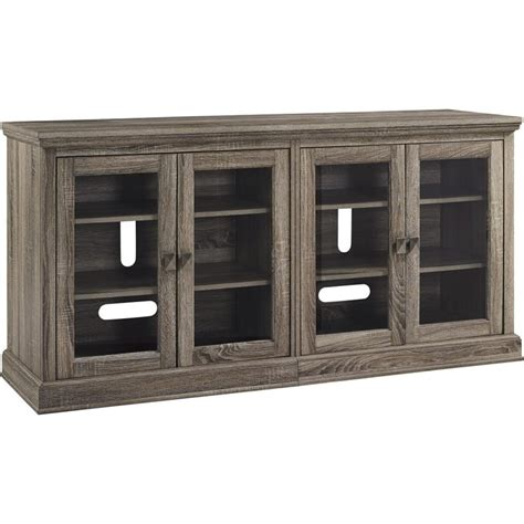Tv Cabinet With Glass Doors 70 Tv Stand With Glass Doors In Sonoma Oak 1784096pcom