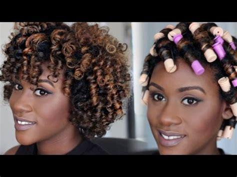 black women rod hair styles natural hair tutorial perm rod set video black hair