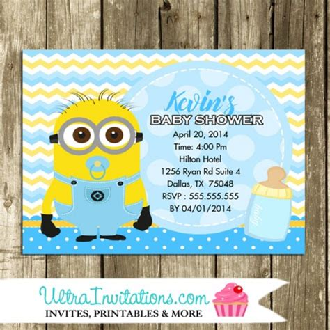 Minions Baby Shower by Minion Baby Shower Invitations Photo Invitations