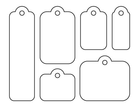 pattern for name tags gift tag pattern use the printable outline for crafts