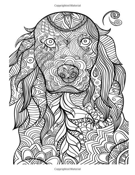 vintage pattern colouring book 127 best coloring pages to print dogs images on