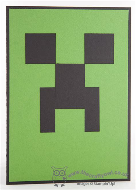 How To Make A Minecraft Birthday Card Minecraft Creeper Birthday Card
