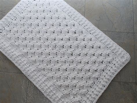 knitted rug patterns free crochet cotton bath mat honeycomb design crochet inspiration bath mat