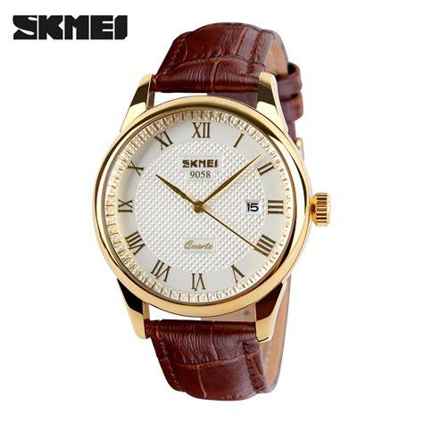 Skmei Fashion Casual Leather 1083 Murah mens watches top brand luxury quartz skmei fashion casual business wristwatches