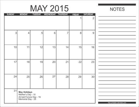 printable calendar 2015 with notes 2015 free printable calendars free printable calendars