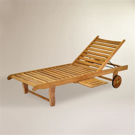teak outdoor chaise sawarna teak outdoor chaise lounge world market